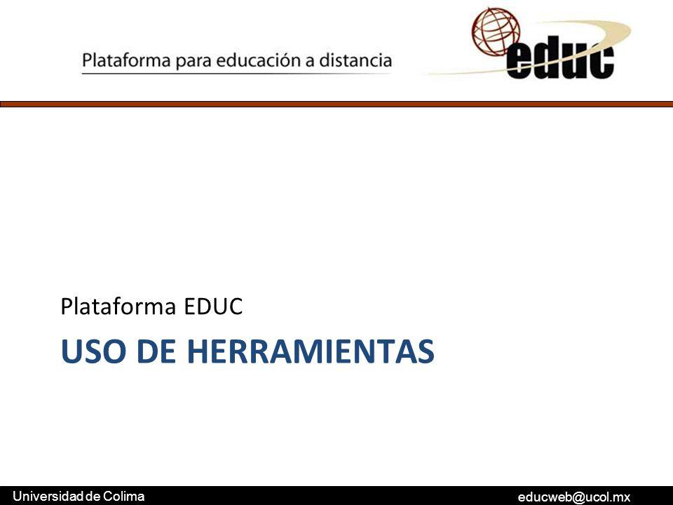 Plataforma EDUC Uso de herramientas