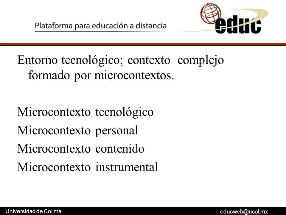 Entorno tecnológico; contexto complejo formado por microcontextos
