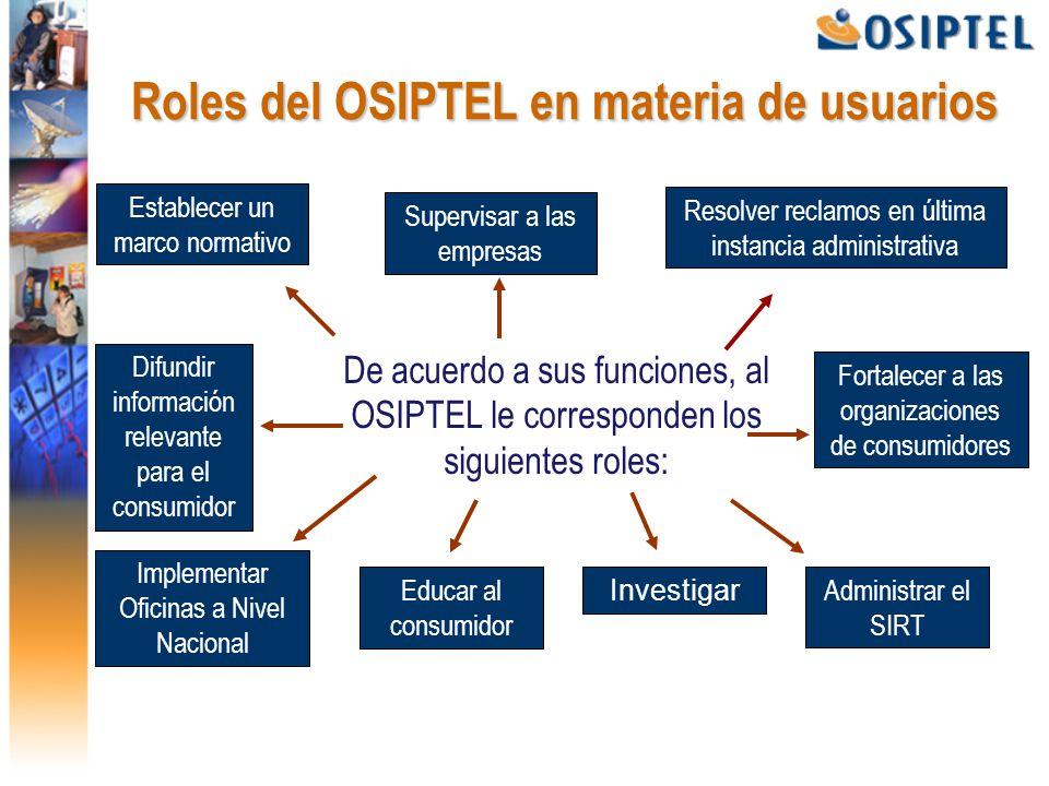 Osiptel y la calidad de los servicios de for Oficina consumidor telecomunicaciones