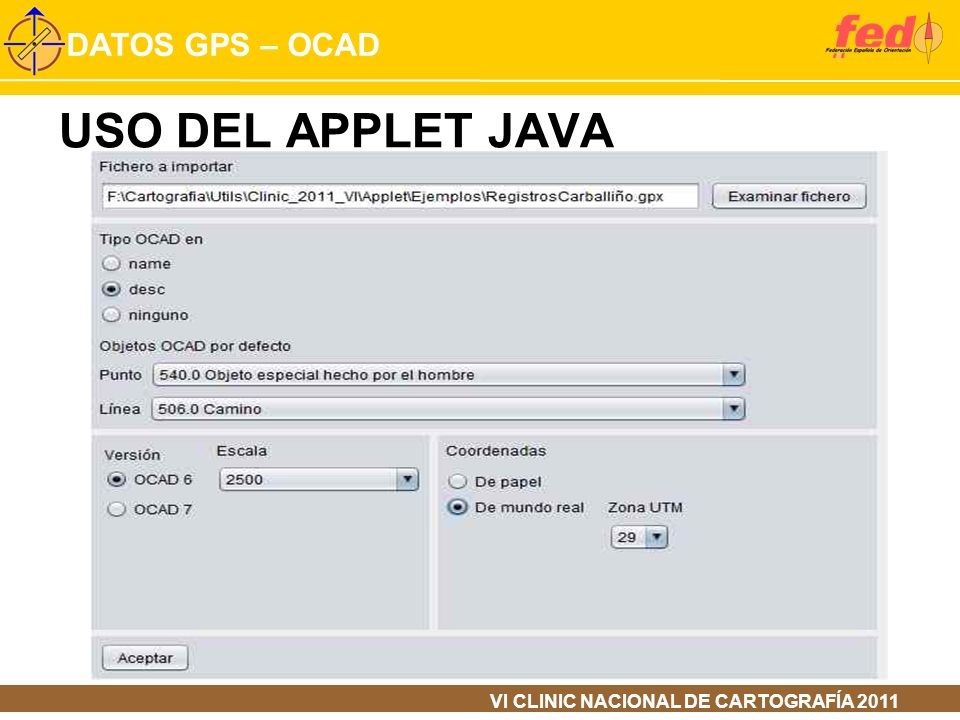 USO DEL APPLET JAVA