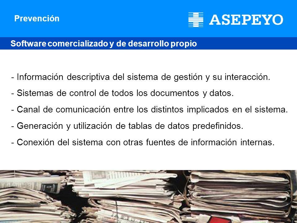 - Información descriptiva del sistema de gestión y su interacción.