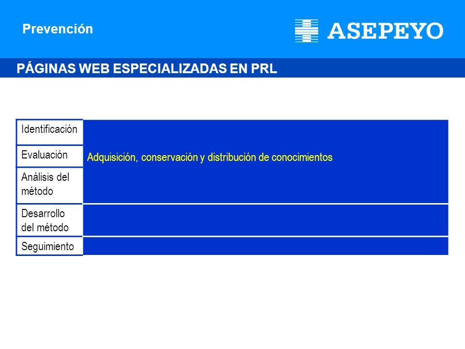 PÁGINAS WEB ESPECIALIZADAS EN PRL