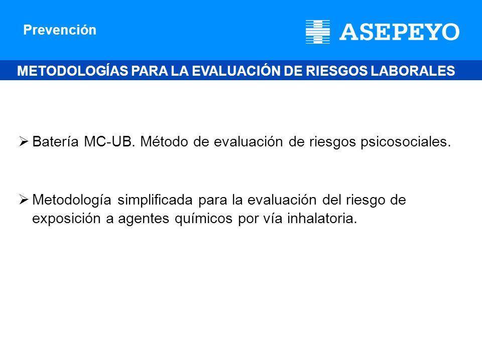 Batería MC-UB. Método de evaluación de riesgos psicosociales.