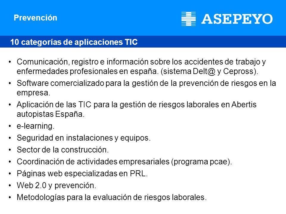 10 categorías de aplicaciones TIC