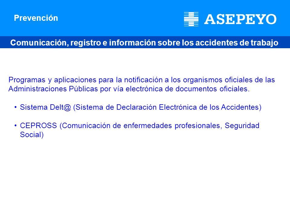 Comunicación, registro e información sobre los accidentes de trabajo y enfermedades profesionales en España