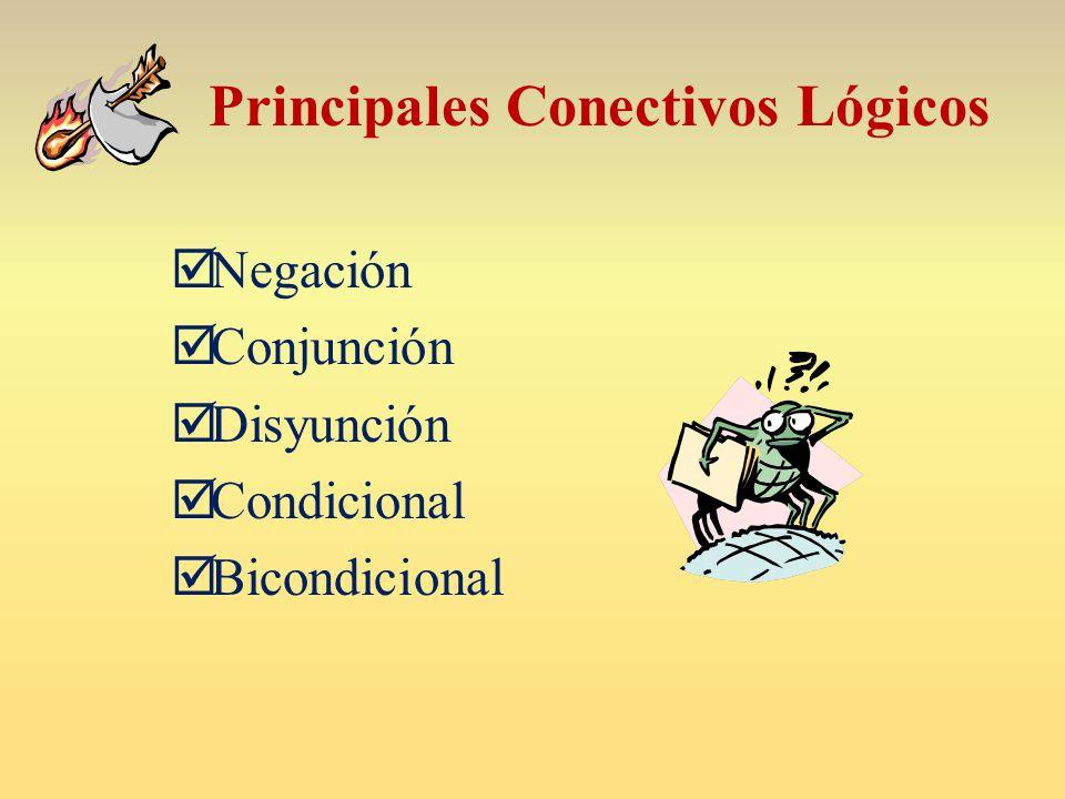 Principales Conectivos Lógicos