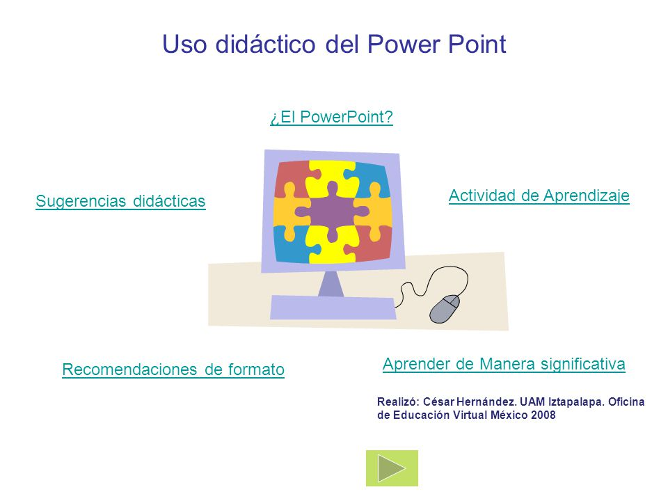 Uso did ctico del power point ppt descargar for Oficina virtual educacion