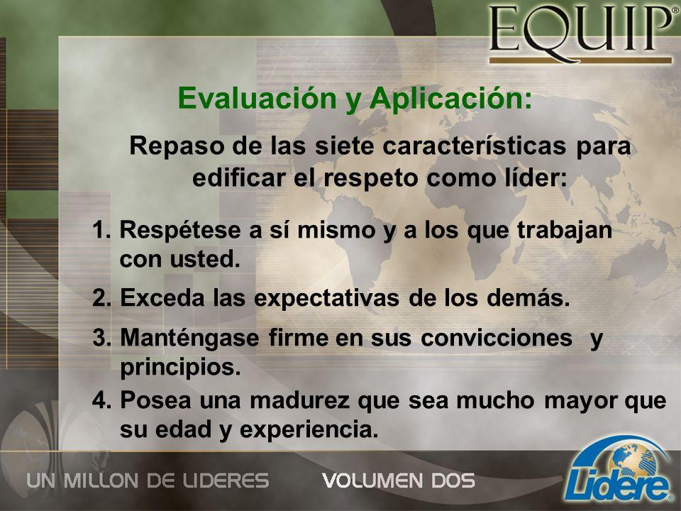 Evaluación y Aplicación: