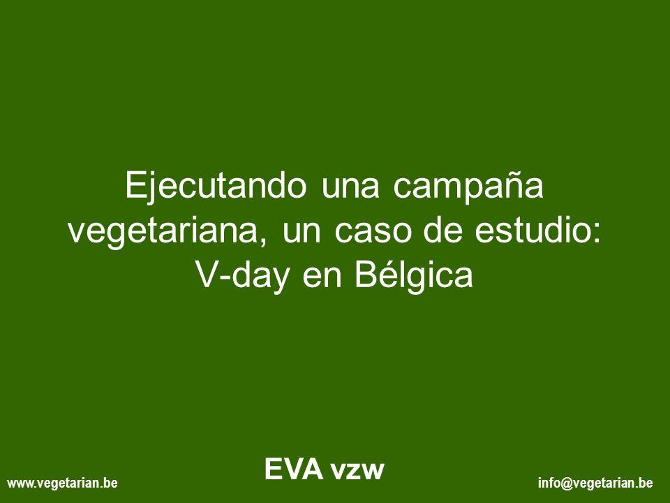 Ejecutando una campaña vegetariana, un caso de estudio: V-day en Bélgica