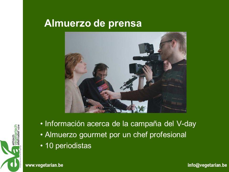 Almuerzo de prensa Información acerca de la campaña del V-day