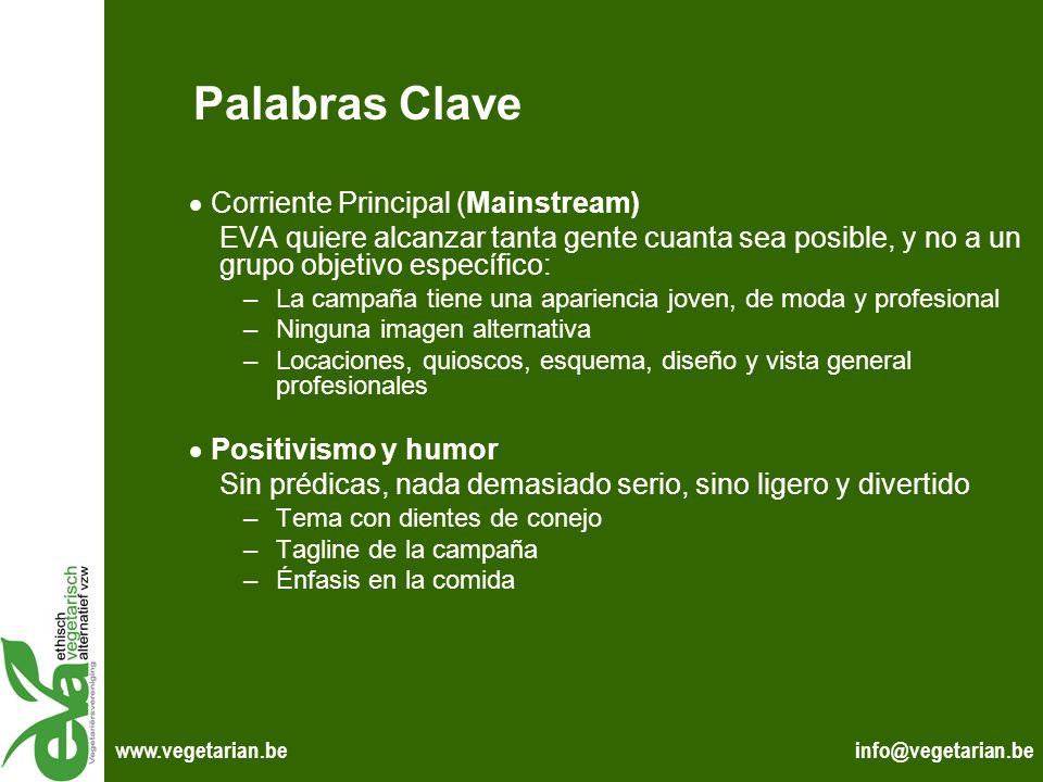 Palabras Clave  Corriente Principal (Mainstream)