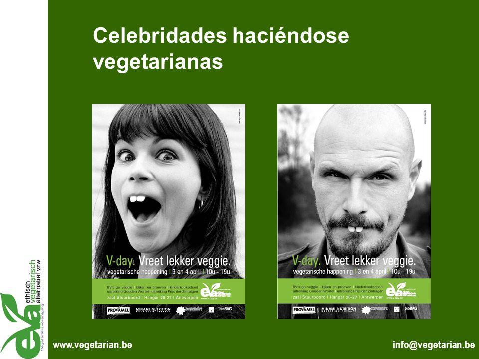 Celebridades haciéndose vegetarianas