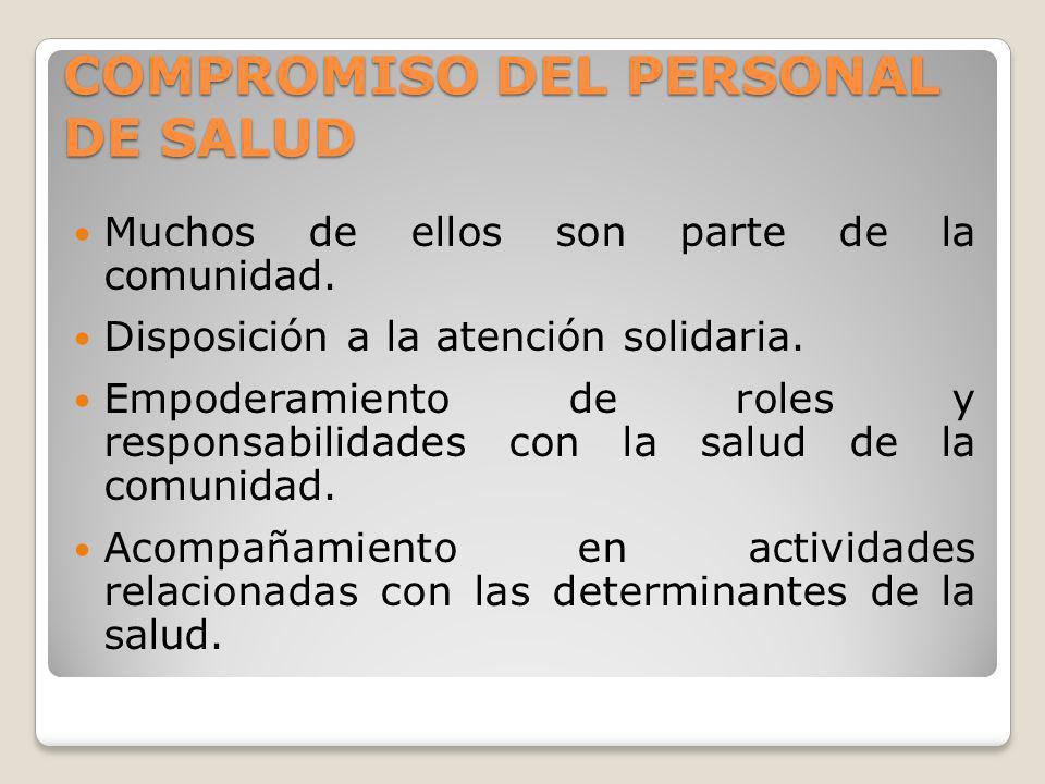 COMPROMISO DEL PERSONAL DE SALUD