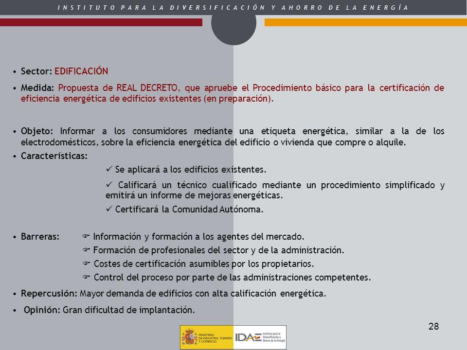 Sector: EDIFICACIÓN