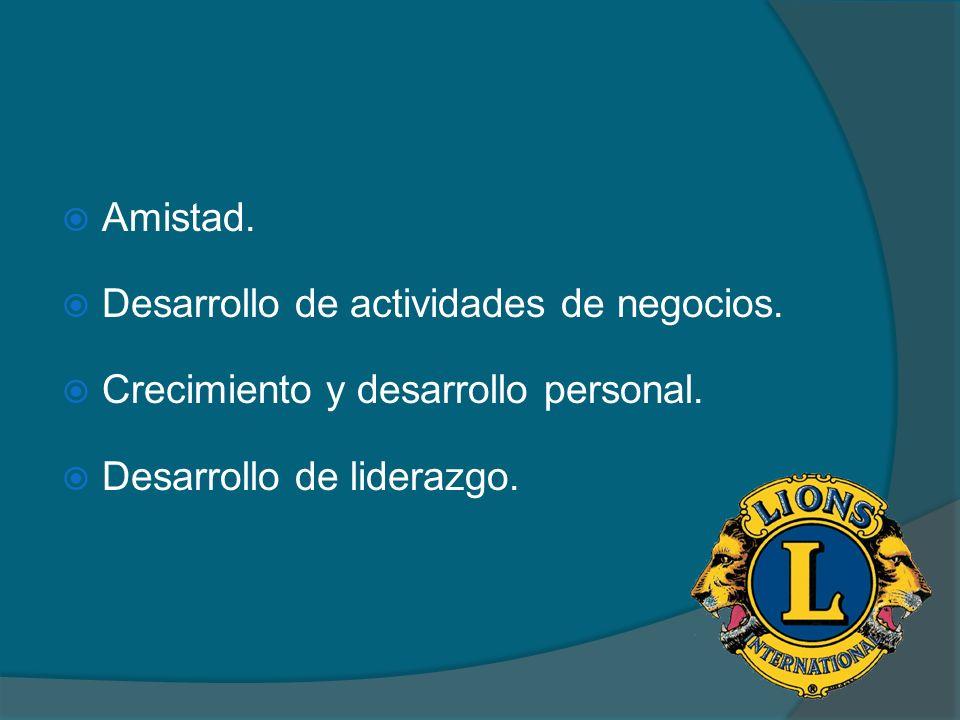 Amistad. Desarrollo de actividades de negocios. Crecimiento y desarrollo personal.