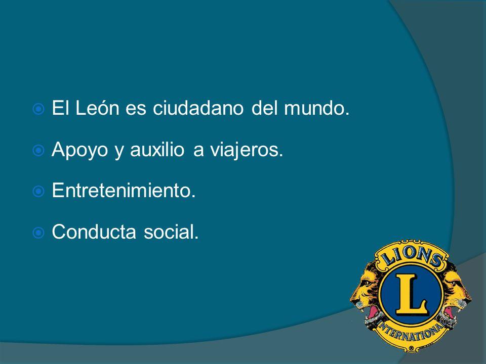 El León es ciudadano del mundo.