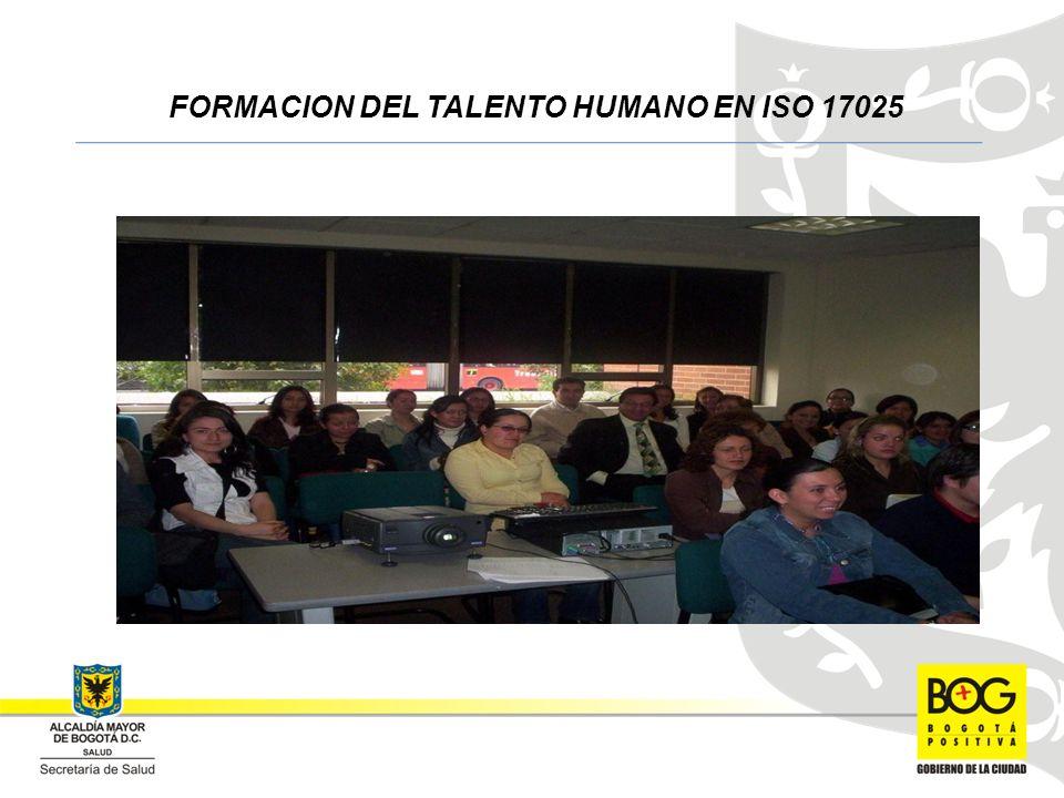 FORMACION DEL TALENTO HUMANO EN ISO 17025