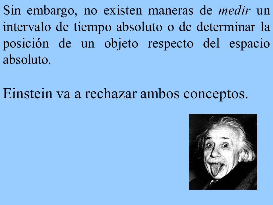 Einstein va a rechazar ambos conceptos.