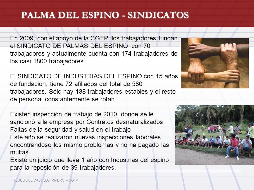 PALMA DEL ESPINO - SINDICATOS