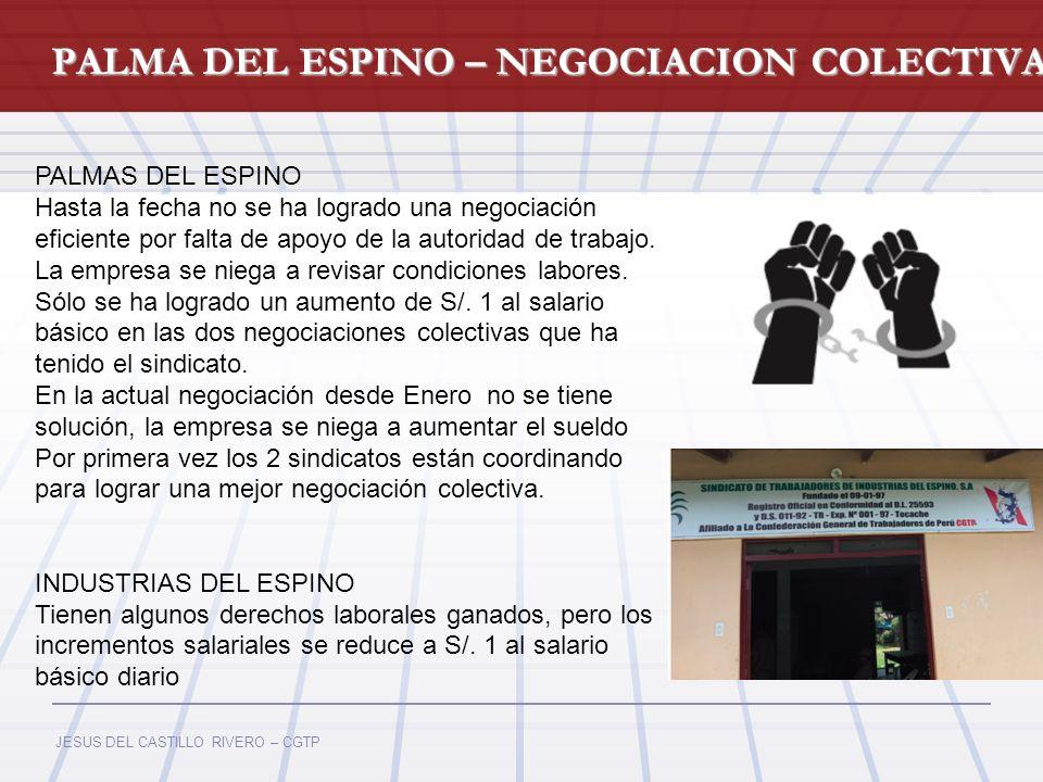 PALMA DEL ESPINO – NEGOCIACION COLECTIVA