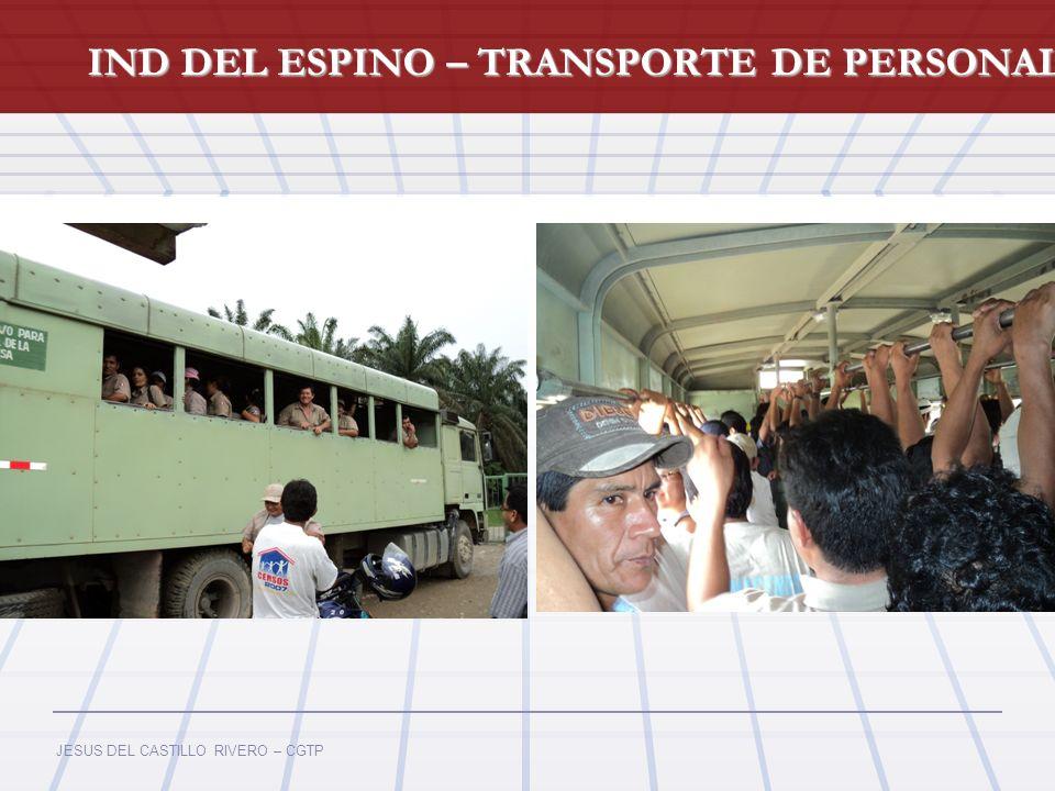 IND DEL ESPINO – TRANSPORTE DE PERSONAL
