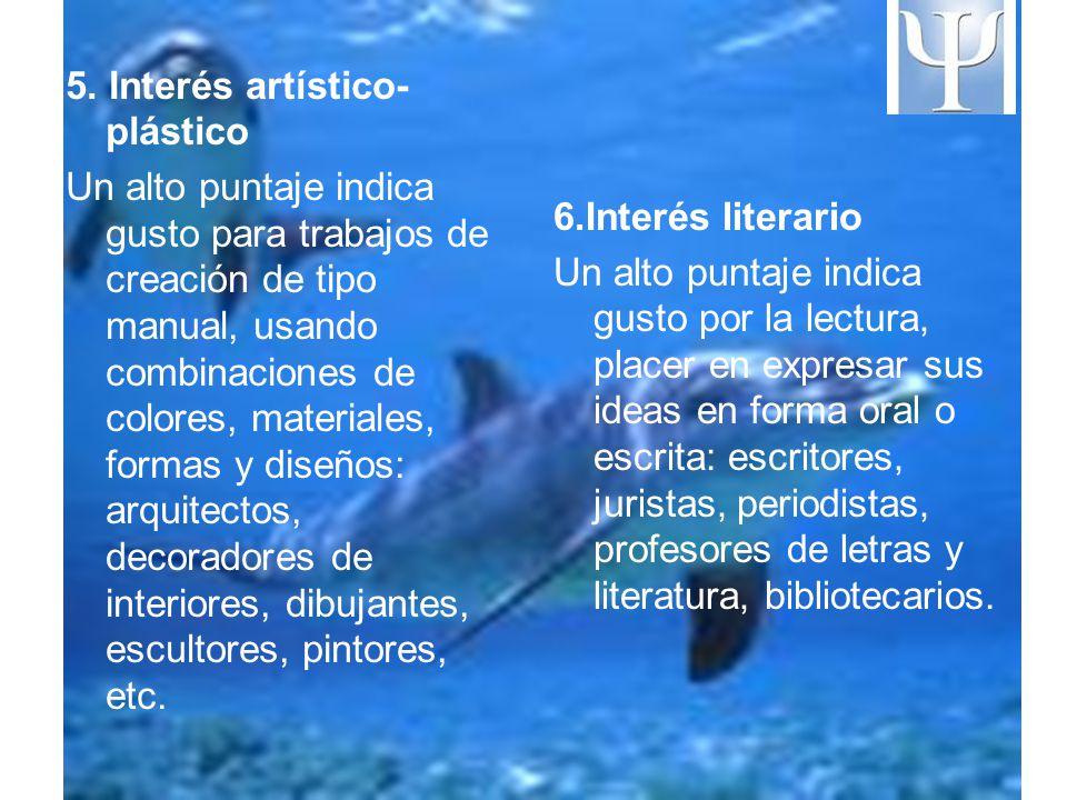5. Interés artístico-plástico