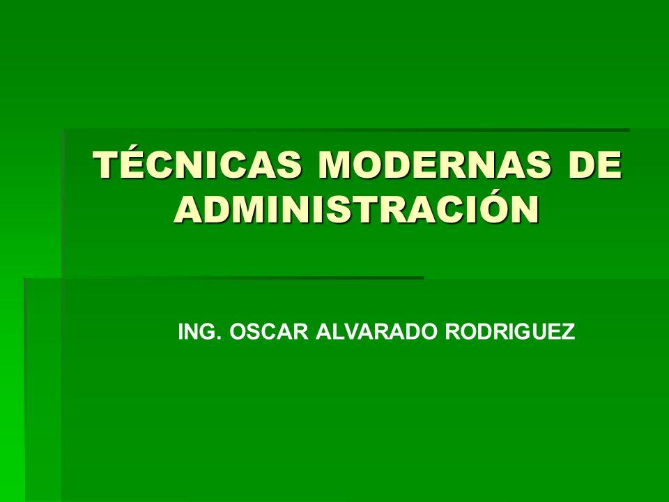T cnicas modernas de administraci n ppt descargar for Tecnicas culinarias modernas