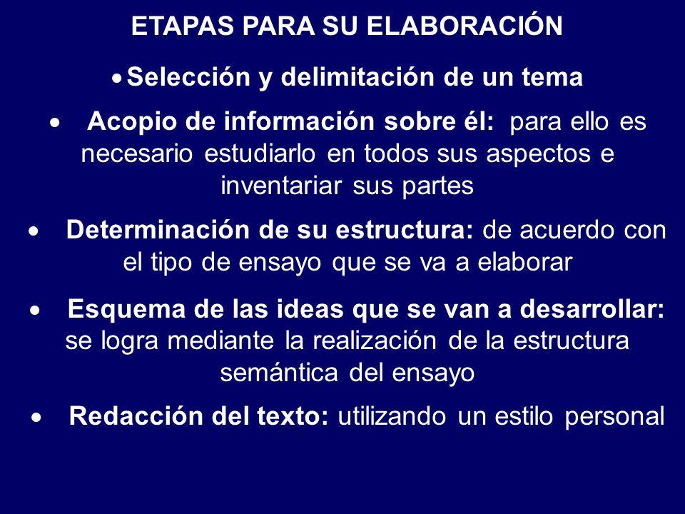 ETAPAS PARA SU ELABORACIÓN