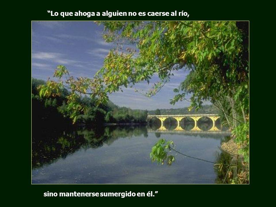Lo que ahoga a alguien no es caerse al río,