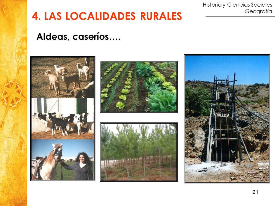 4. LAS LOCALIDADES RURALES