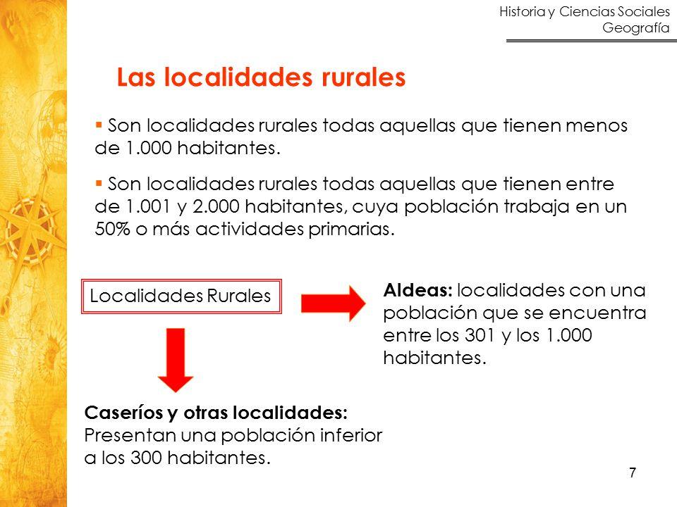 Las localidades rurales