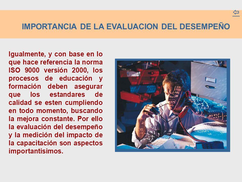 IMPORTANCIA DE LA EVALUACION DEL DESEMPEÑO