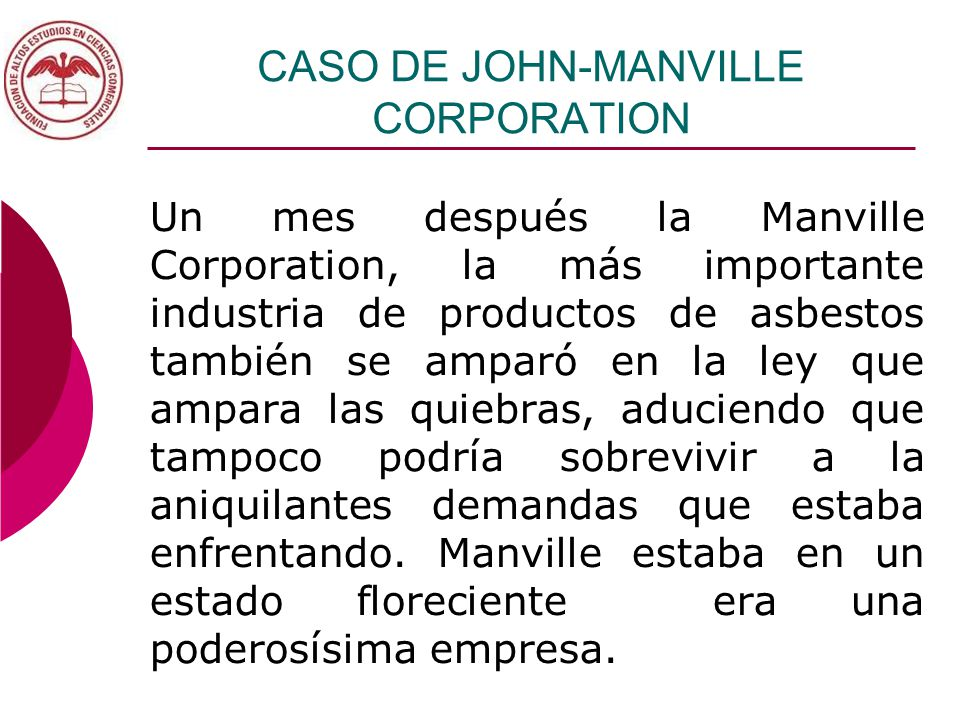 john manville corporation Johns manville has 9,870 employees and an estimated annual revenue of $10b check out johns manville's profile for competitors, acquisition history, news and more.