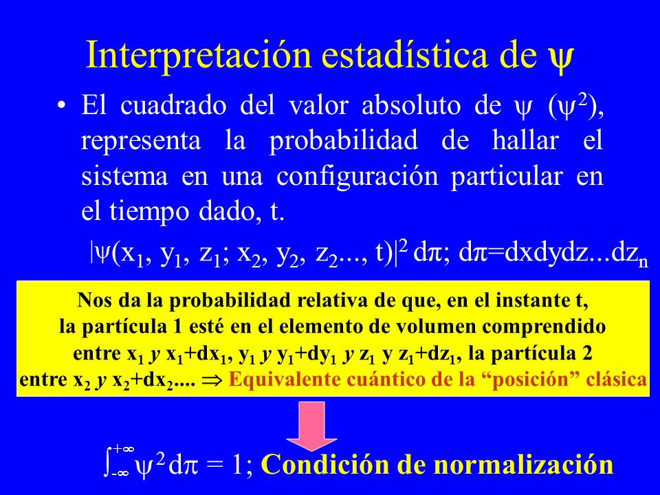 Interpretación estadística de 