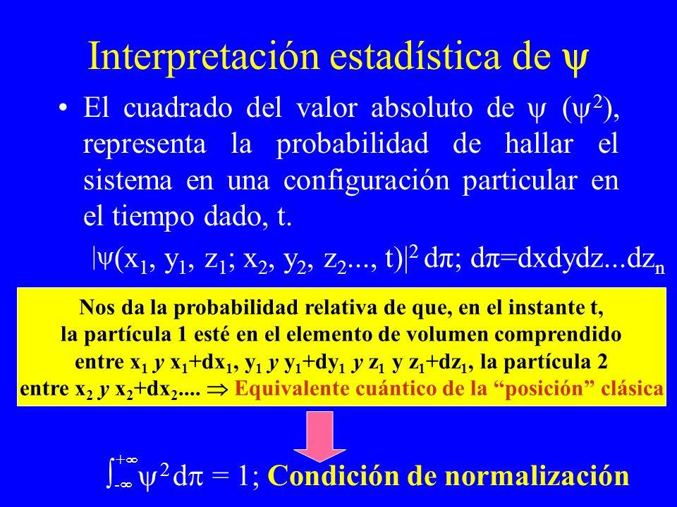 Interpretación estadística de 