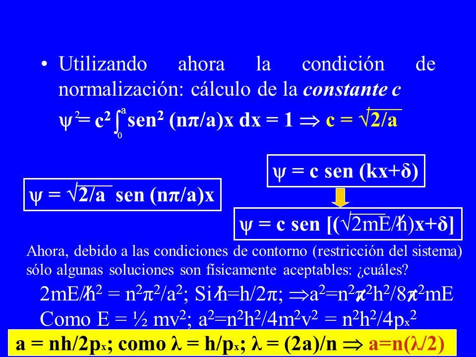 a = nh/2px; como λ = h/px; λ = (2a)/n  a=n(λ/2)
