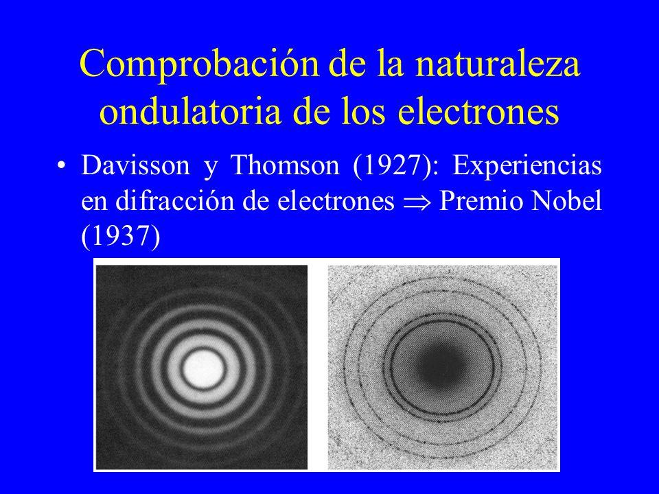 Comprobación de la naturaleza ondulatoria de los electrones
