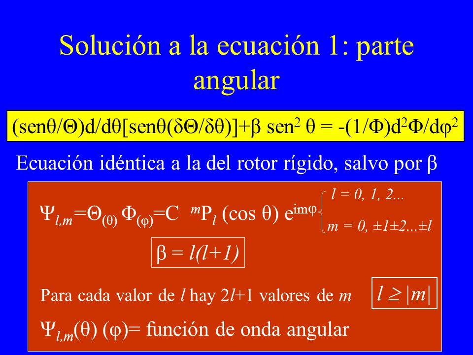 Solución a la ecuación 1: parte angular