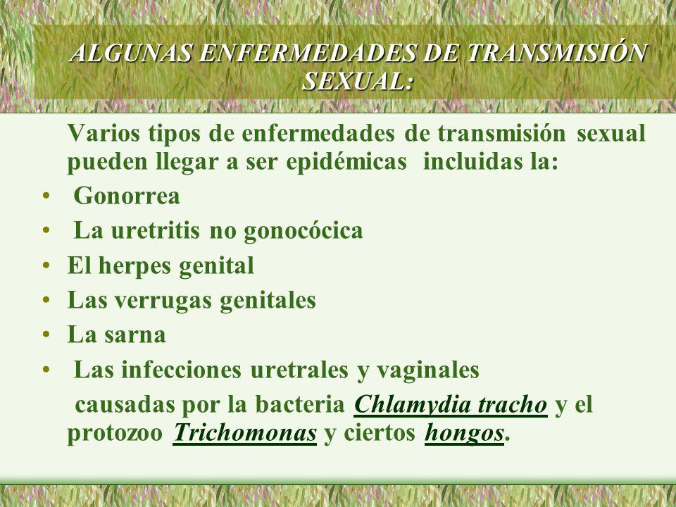 ALGUNAS ENFERMEDADES DE TRANSMISIÓN SEXUAL: