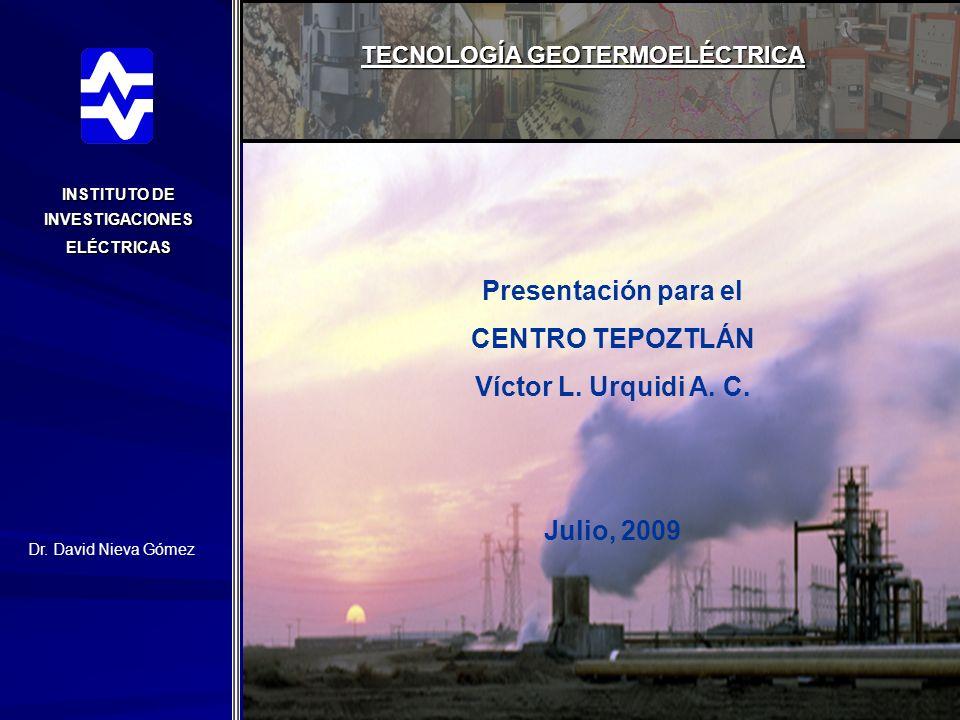 Presentación para el CENTRO TEPOZTLÁN Víctor L. Urquidi A. C.