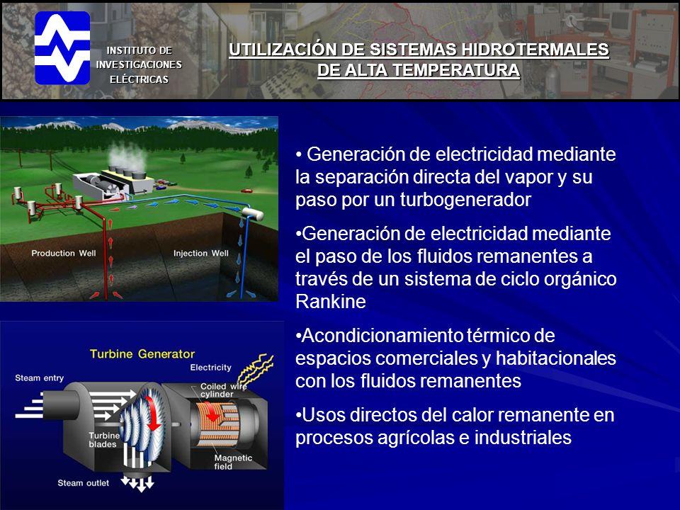 UTILIZACIÓN DE SISTEMAS HIDROTERMALES