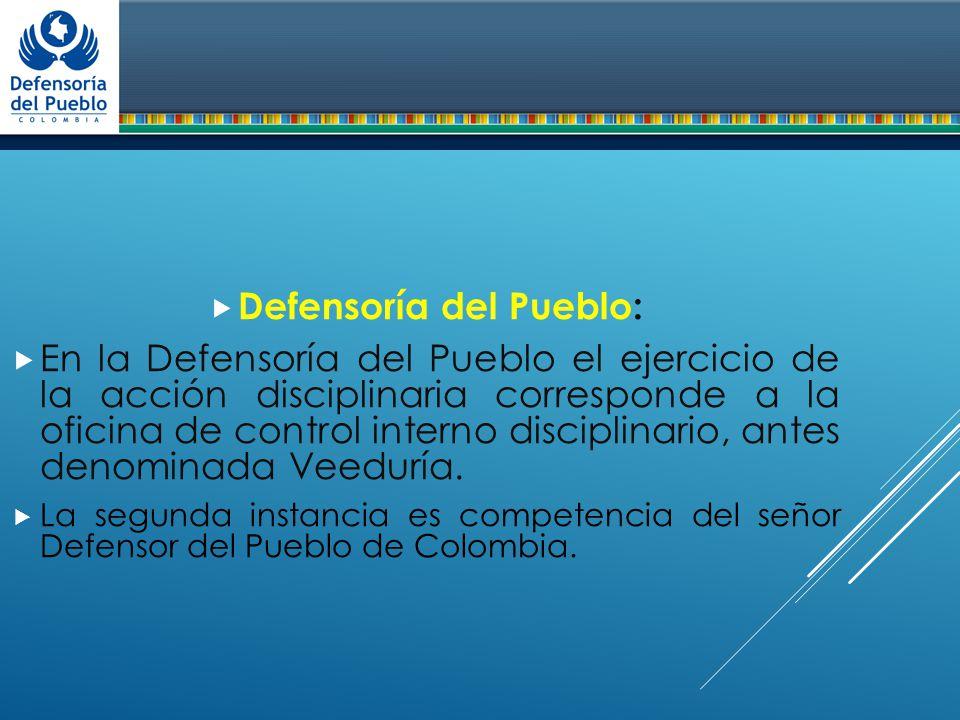 Derecho disciplinario ppt descargar for Oficina del defensor del pueblo