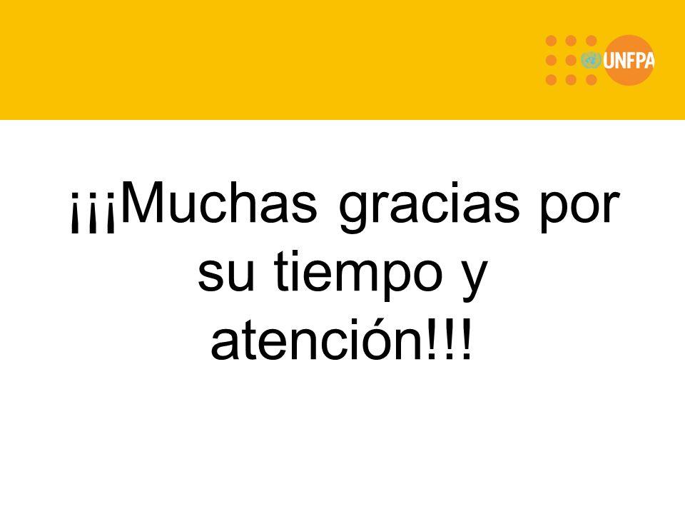 ¡¡¡Muchas gracias por su tiempo y atención!!!