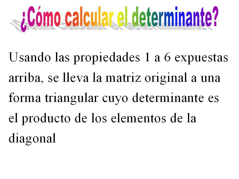 ¿Cómo calcular el determinante