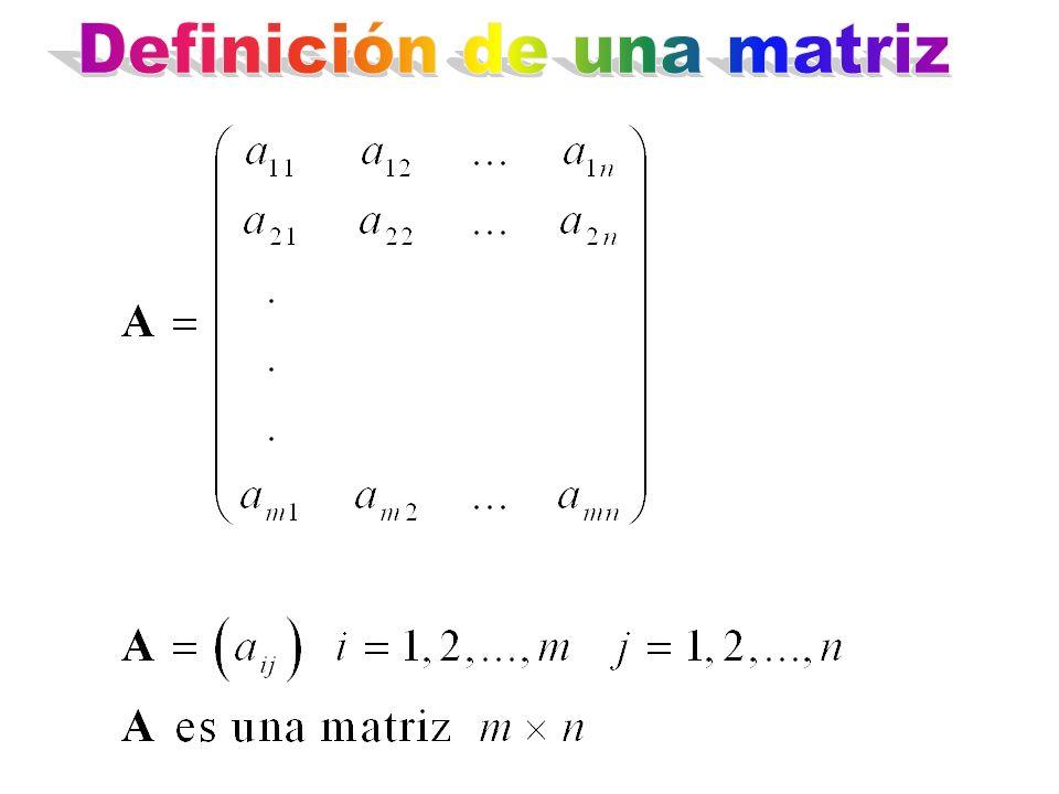 Definición de una matriz