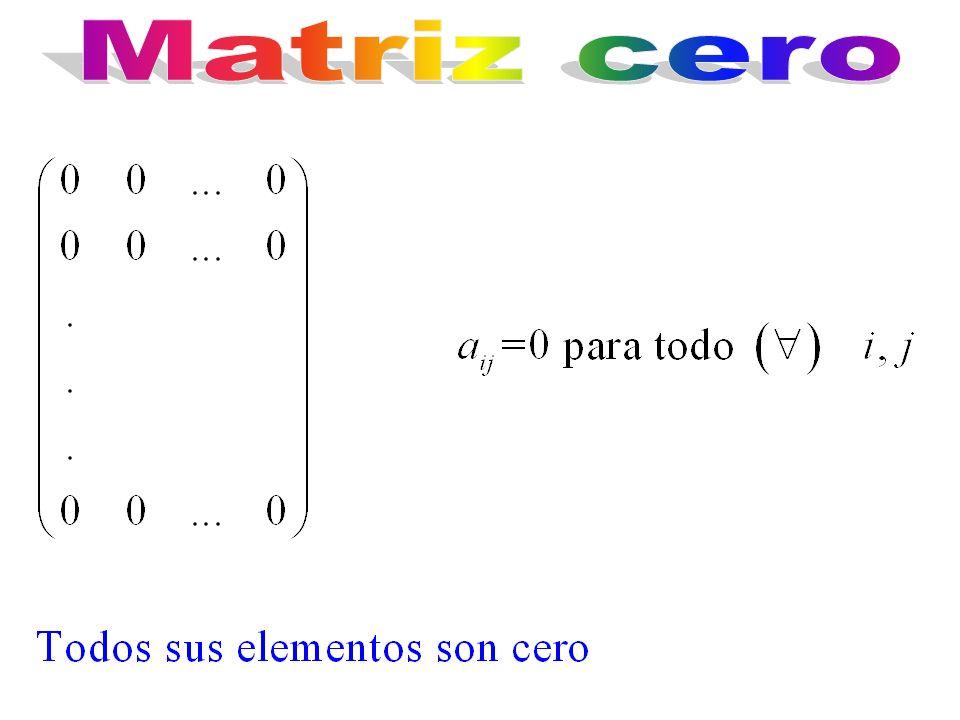 Matriz cero