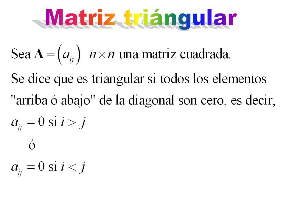 Matriz triángular