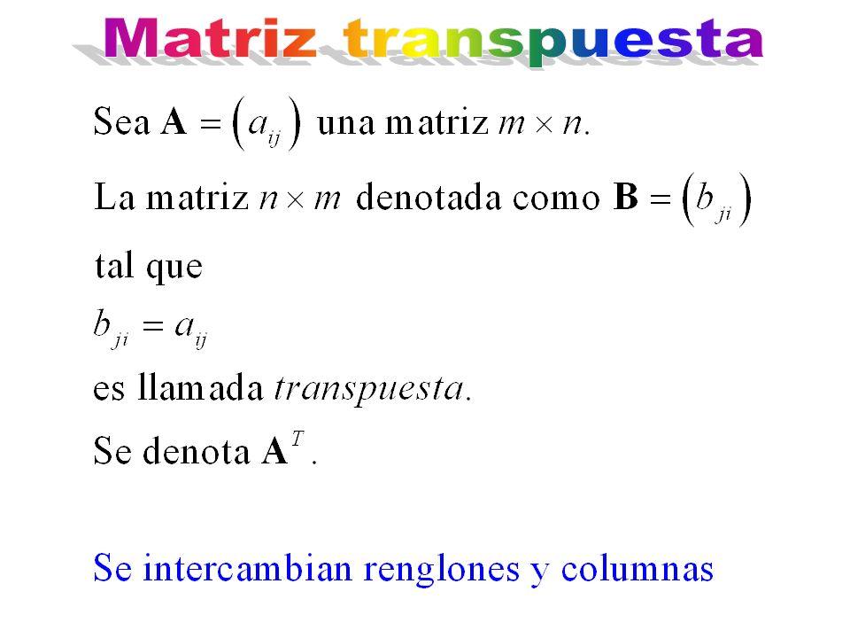 Matriz transpuesta