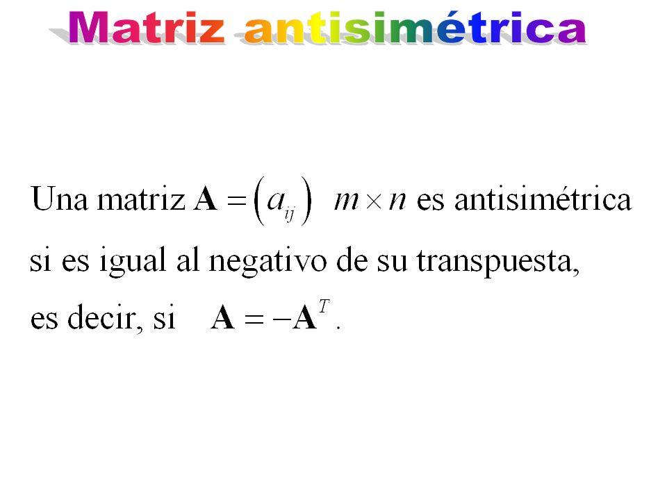 Matriz antisimétrica