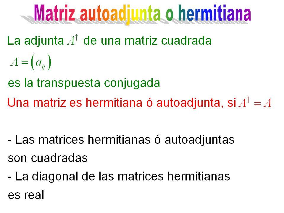 Matriz autoadjunta o hermitiana